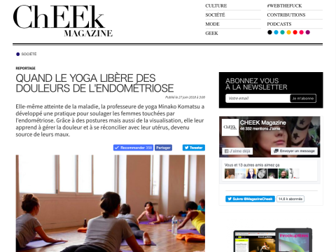 cheek magazine endometriose yoga